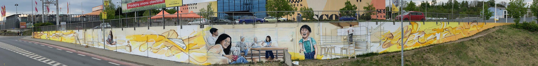 Graffiti a reklamní malba