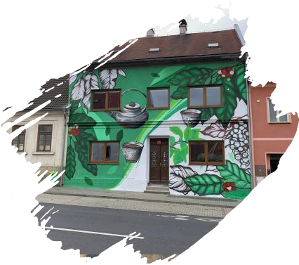 Petr Ščibran (malba kavárny v Mimoni)